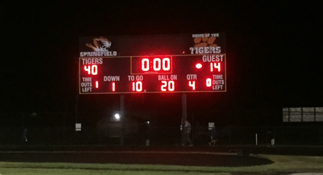 Springfield Local High School Varsity Football beat vs Western Reserve Berlin Center 40-14