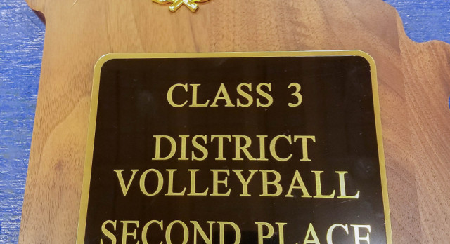 Lincoln Prep girls volleyball 2nd place class 3 district 14