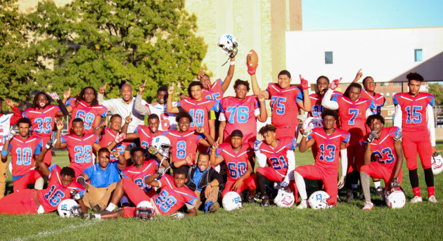 Southeast takes a clean sweep in league football. JV team wins league championship
