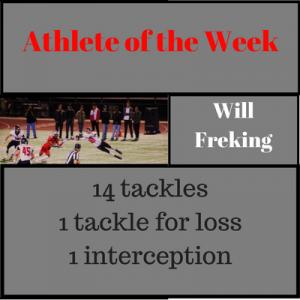 Freking athlete of week