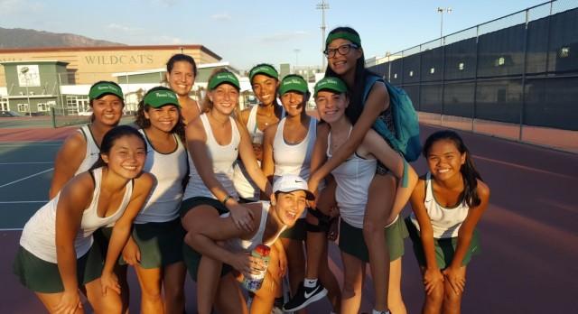 Ladycat Tennis Earns a Split with South Pas