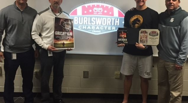West Hall's Anthony Lotti receives National Burlsworth Character Award