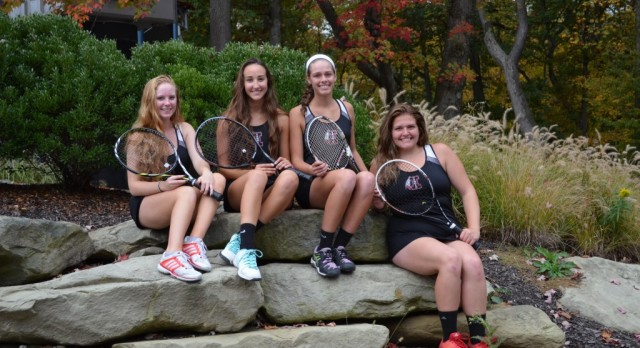 Girls Tennis Doubles WPIAL Champions and Runner-up