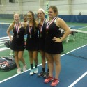 Indiana Girls' Tennis Doubles Gold and Silver Medalists