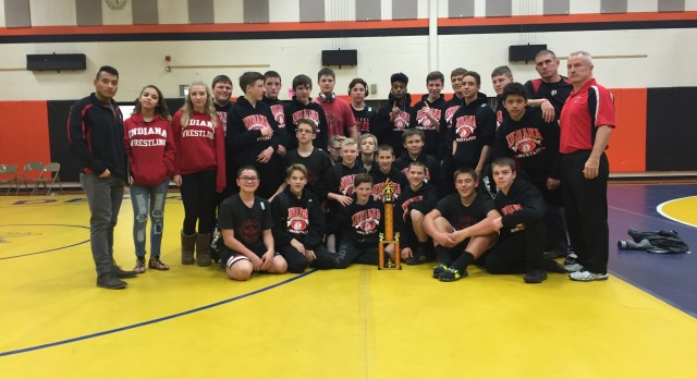 Junior High Wrestling Sweep Blairsville Dual