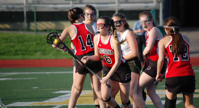 Indiana Area Senior High School Girls Varsity Lacrosse beat Penn Trafford High School 15-4