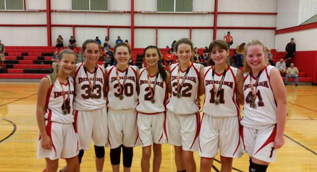 7th & 8th Grade Girls' Basketball open season with 1st place at Indiana JH Basketball Tournament