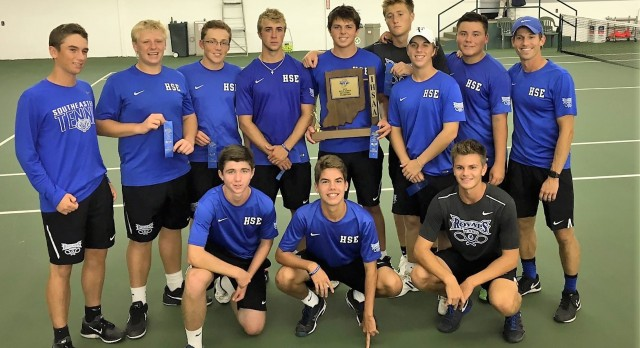 HSE Boys Varsity Tennis beat Noblesville High School 4-1 to Win Sectional Championship!