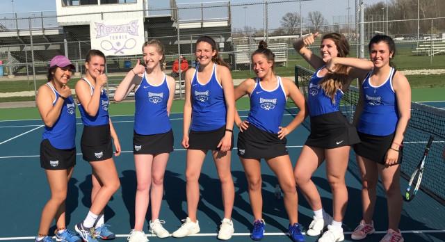 Hamilton Southeastern High School Girls Varsity Tennis beat Zionsville High School 3-2