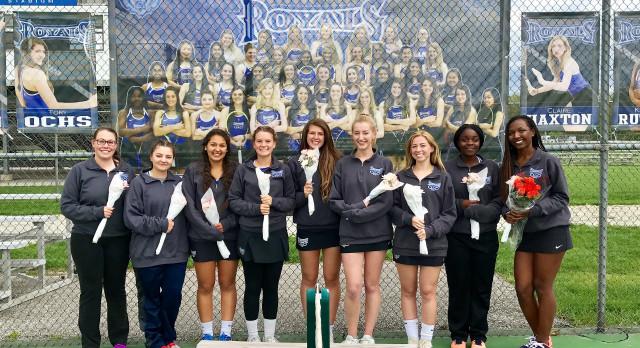 Hamilton Southeastern High School Girls Varsity Tennis beat Lawrence North High School 4-1 on Senior Night
