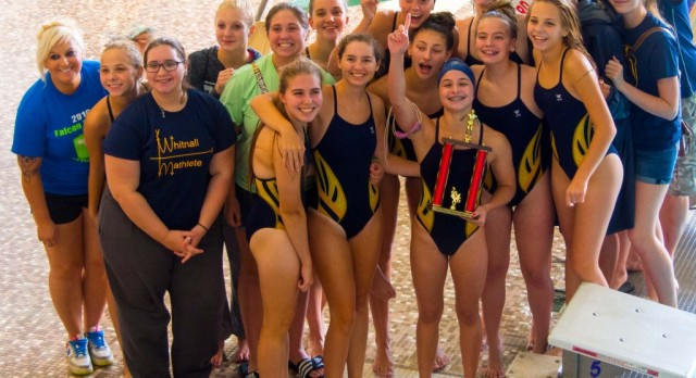 Whitnall High School Girls Varsity Swimming finishes 1st place