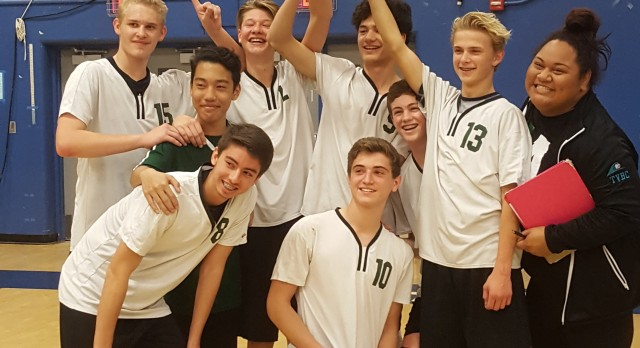 Boys JV Volleyball takes title
