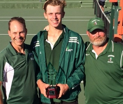 Seggerman win CIF Individual Tennis Title