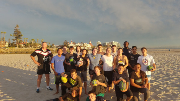 Great First Beach Rugby Practice!