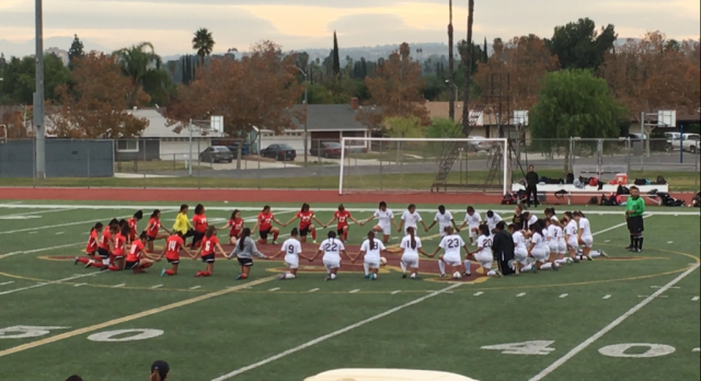 Arlington Girls' Soccer defeats Canyon Springs 3 – 1, on Friday 2/3.