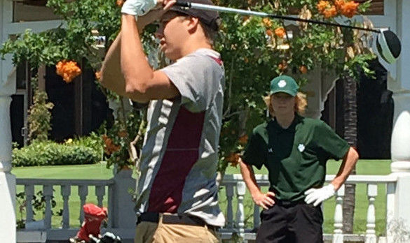 Arlington's Shawn Fleisher wins Inland Valley Medalist Award in boys' golf.