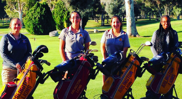 Arlington Girls Golf at the Inland Valley League Golf Finals at the Jurupa Hills Country Club, on Wednesday, 10/18.