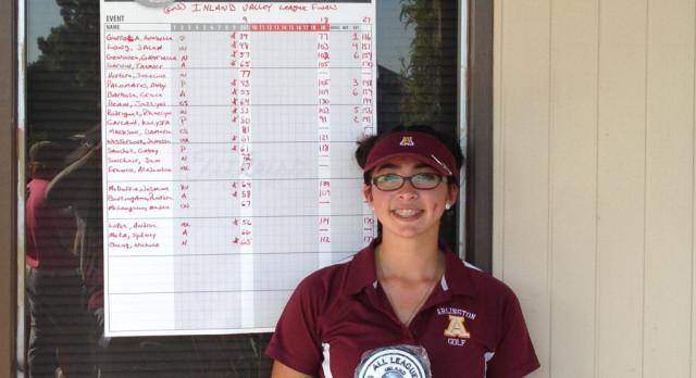 Grace Barbosa, senior golfer, earned all I.V.L. first team honors on Wednesday, 10/18.