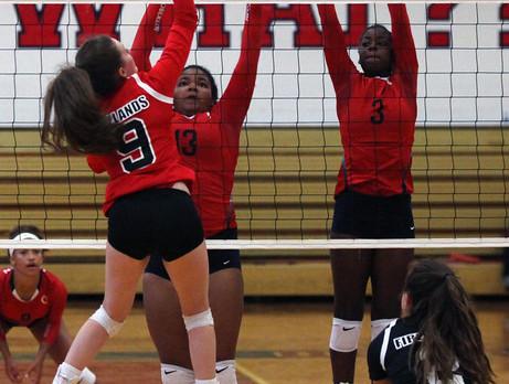 Firelands vs. Oberlin volleyball: Falcons pick up first win