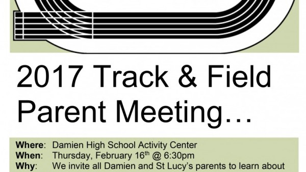 2017 Parent Track Meeting