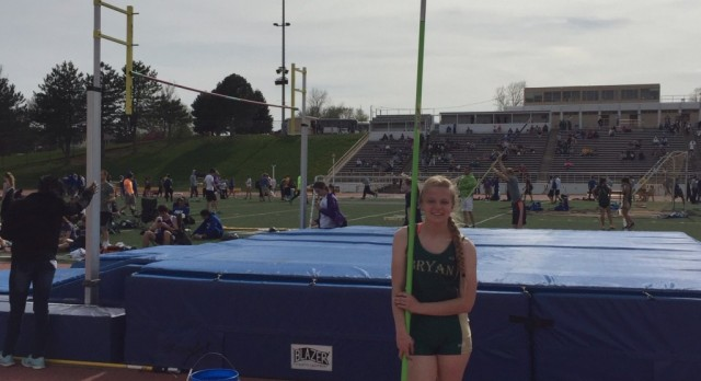 Julia Dirkse breaks Bryan's Pole Vault record at Central's Invitational