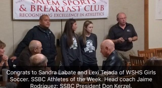 SSBC Athletes of the Week.  Congrats Sandra & Lexi