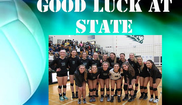 Good Luck Volleyball at State!