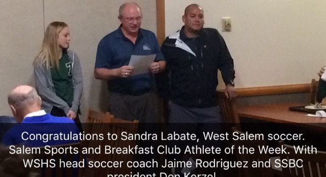 Sandra Labate  Salem Sports & Breakfast Club Athlete of the Week