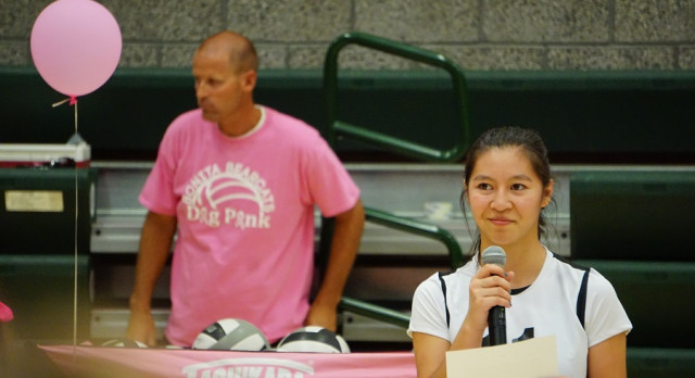 La Verne Online Covers Dig Pink Volleyball Game
