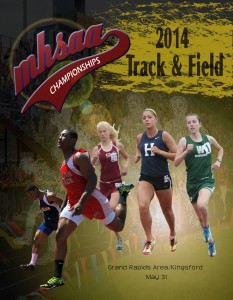Clarenceville Grad on 2014 Track Program Cover