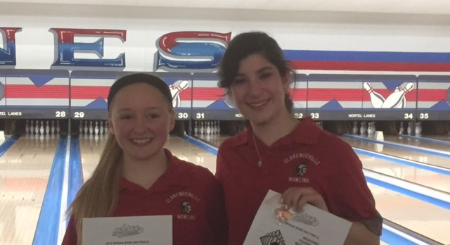 Girls Varsity Bowlers compete at the State Tournament