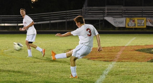 Clarenceville High School Boys Varsity Soccer beat Clawson High School 2-1