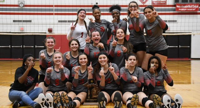 Clarenceville High School Girls Varsity Volleyball beat Detroit Communications & Media Arts High School 3-0