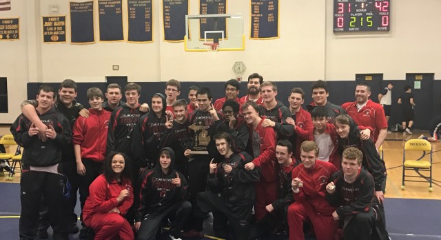 Clarenceville High School Boys Varsity Wrestling finishes 1st place