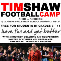 Tim Shaw Football Camp flyer