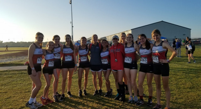 Lady Eagles Compete in District XC Meet