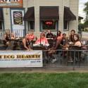Eagles visit Hot Dog Heaven