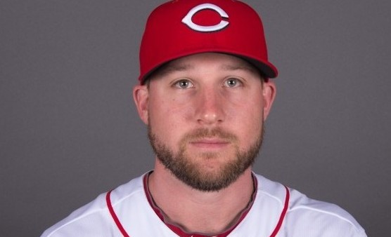 Feb 26, 2015; Goodyear, AZ, USA; Cincinnati Reds relief pitcher Ryan Dennick (41) poses for a picture during photo day at the Reds Player Development Complex. Mandatory Credit: Kyle Terada-USA TODAY Sports