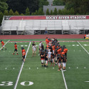 Football Scrimmage VS Rocky River 8-17-17