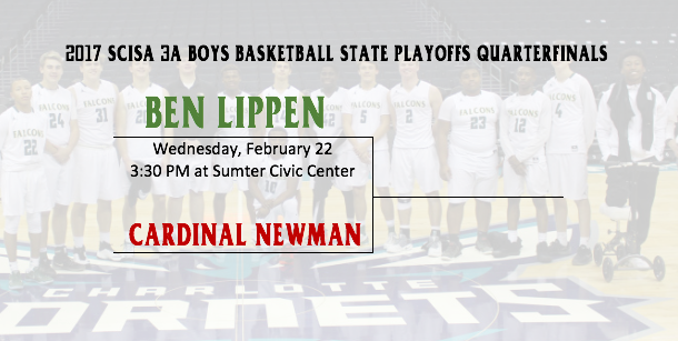 Falcons Boys Basketball Play Cardinal Newman in SCISA State Quarterfinals Wednesday
