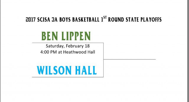 Falcons Boys Basketball Play Wilson Hall in SCISA State Playoffs 1st Round on Saturday