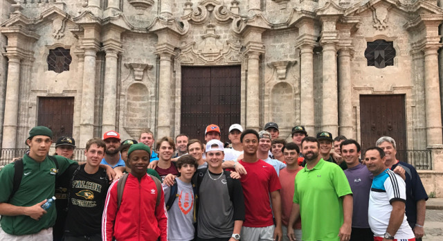 Falcons Baseball Returns From Successful Trip to Cuba