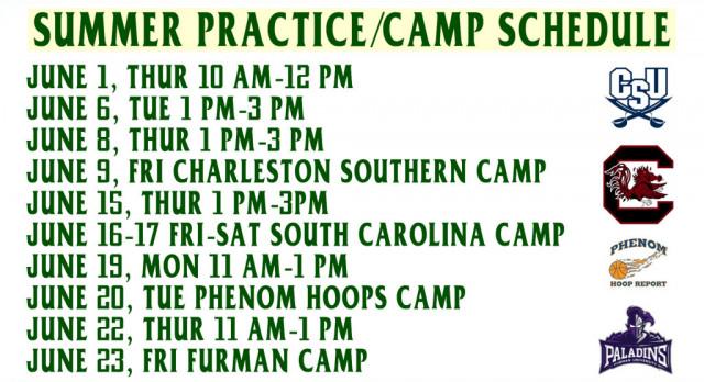 Falcon Boys Basketball Summer Schedule