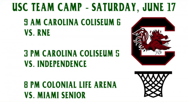 Ben Lippen Basketball Plays at Univ. of South Carolina Team Camp Saturday