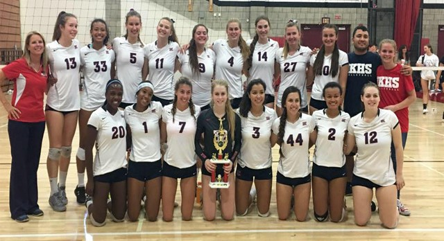 POISE IN THE FACE OF ADVERSITY; VOLLEYBALL SHINES