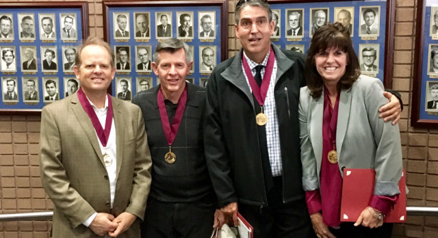 KING COACHES, A.D.'s HONORED BY RIVERSIDE SPORT HALL OF FAME