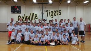 Little Kid Basketball Camp Group