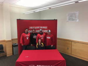 Tori Litwin with Coaches