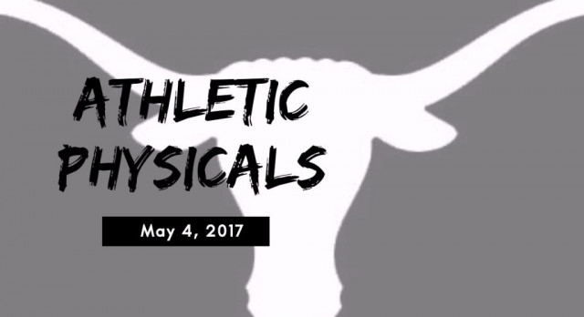 Athletic Physicals on May 4th