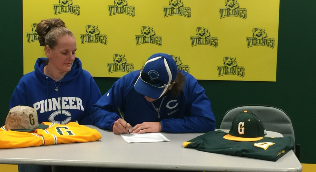 Zachary Bucsko signs baseball Letter of Intent to Glen Oaks College